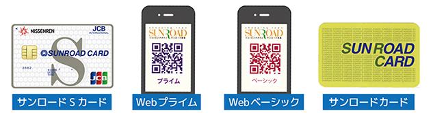 サンロードSカード、Web会員(プライム、ベーシック)、サンロードカード